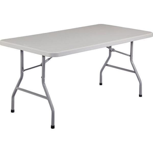 NPS Heavy Duty Folding Table, Speckled Gray