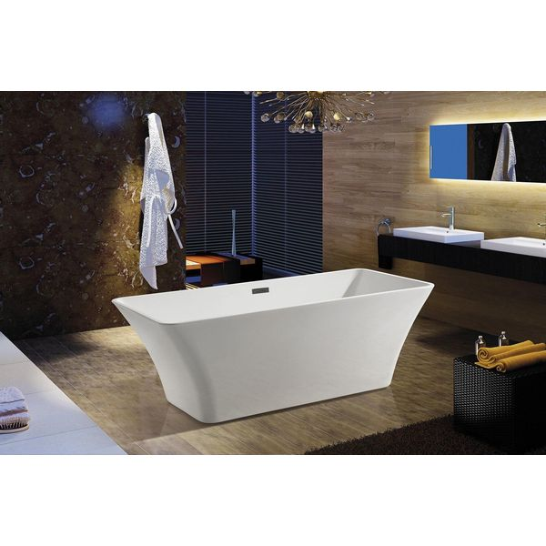 AKDY Bathroom White Color Freestanding Acrylic Bathtub