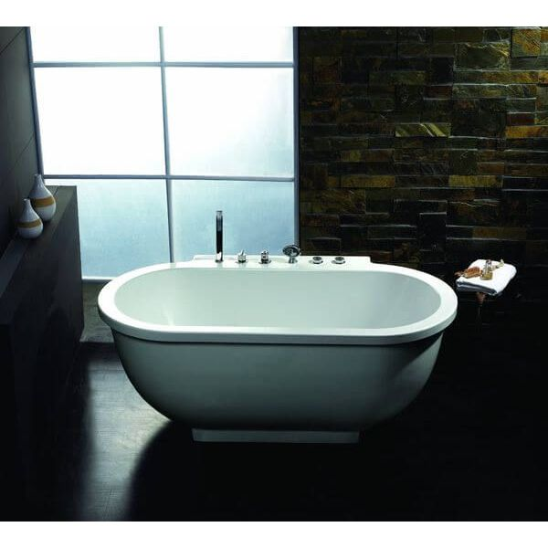 Ariel Bath Whirpool Tub, Platinum Rounded Front