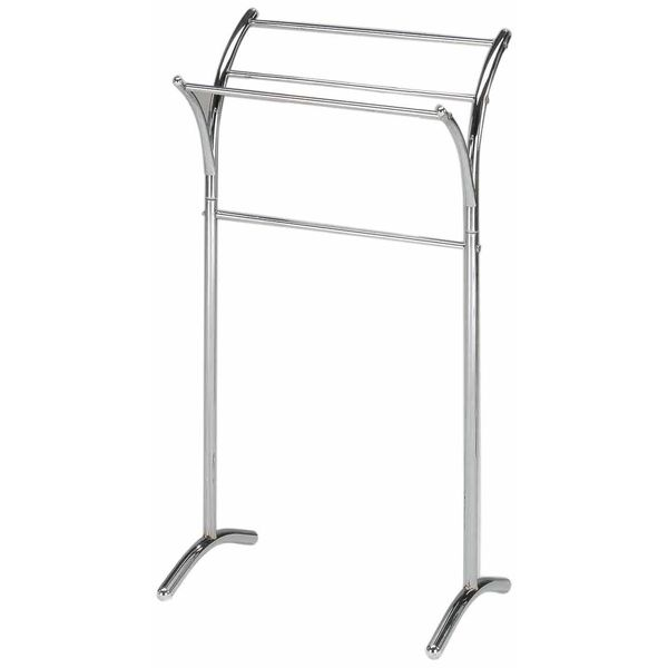 King's Brand Chrome Free Standing Towel Rack