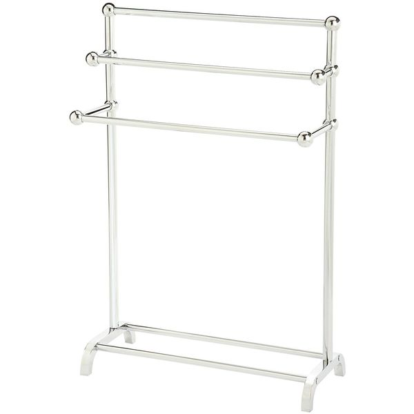 Brushed Nickel Bathroom Free-Standing Towel Holder