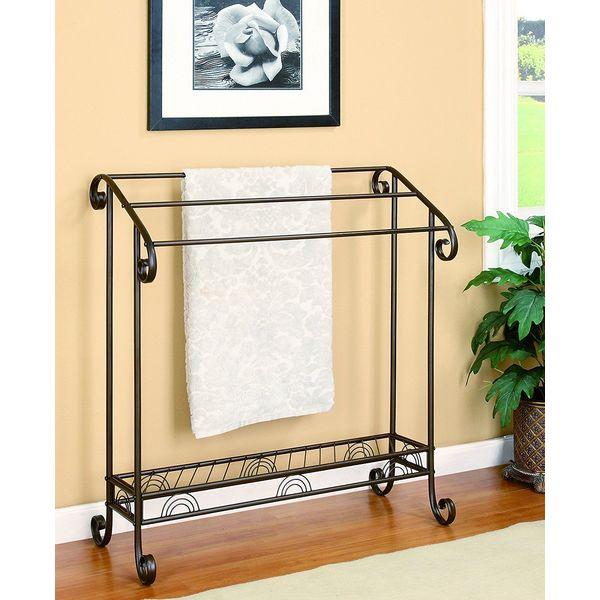 Coaster Home Furnishings Dark Brown Free Standing Towel Rack