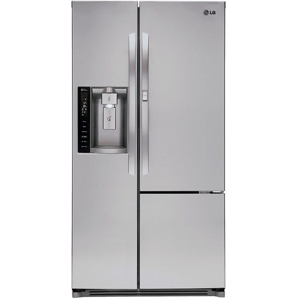LG 35-Inch Side by Side 26.0 Cu. Ft. Refrigerator, Stainless Steel