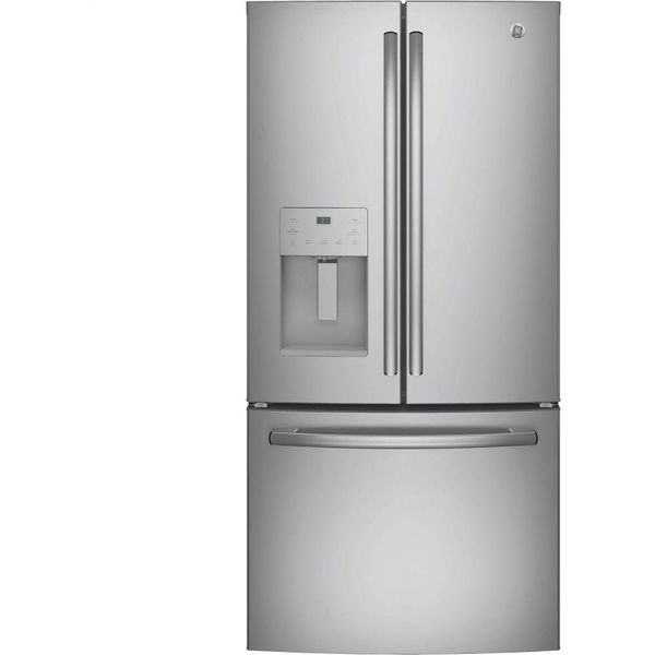 GE Profile 33-inch French Door Refrigerator in Stainless Steel