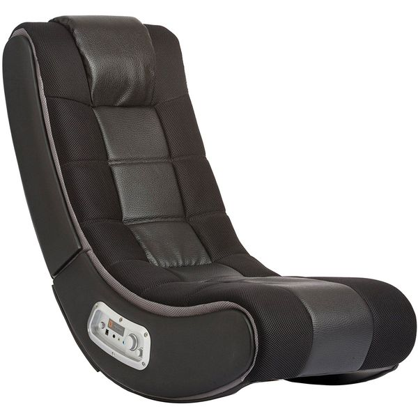 V Rocker Wireless Gaming Chair, Black with Grey