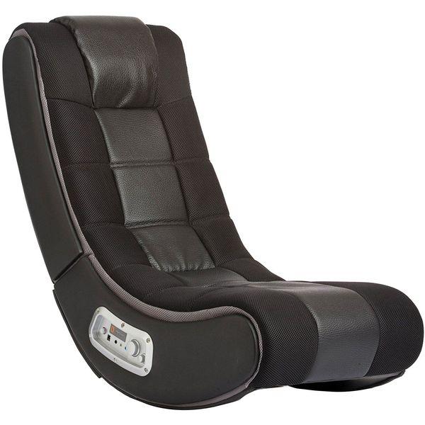 V Rocker Wireless Gaming Chair, Black with Grey