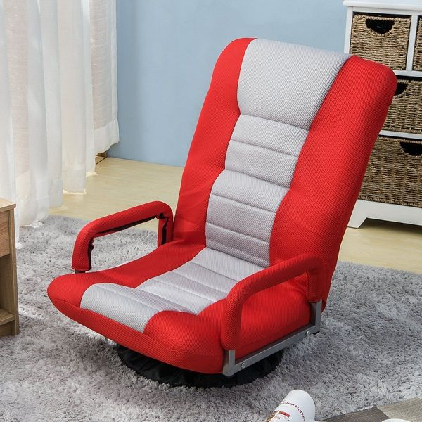 Harper&Bright Designs Swivel Rocker Gaming Chair, Red