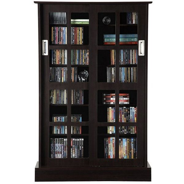 Windowpane Sliding Glass Door Cabinet