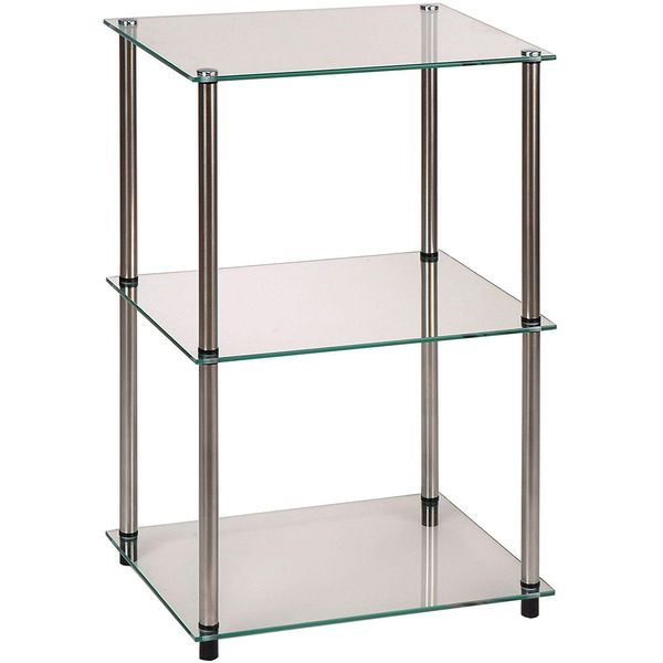 Convenience Concepts 3-Tier Glass Nightstand