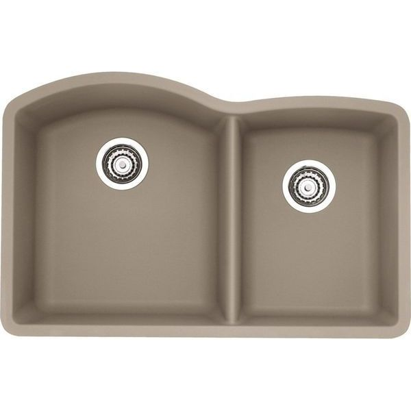 Blanco Diamond 1-3/4 Bowl Silgranit II Sink, Truffle