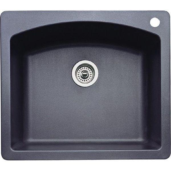 Blanco Diamond Single-Basin Drop-In or Undermount Granite Kitchen Sink, Anthracite