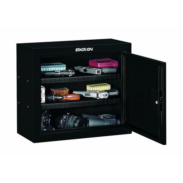 Stack-On Steel Pistol/Ammo Cabinet, Black