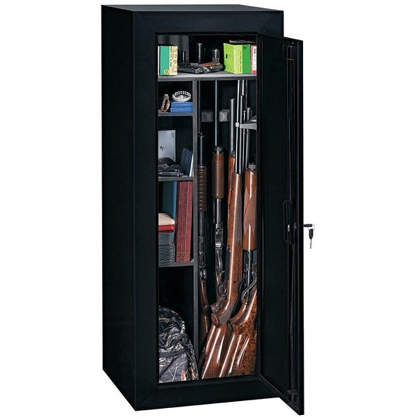 Stack-On 18 Gun Convertible Steel Security Cabinet, Black