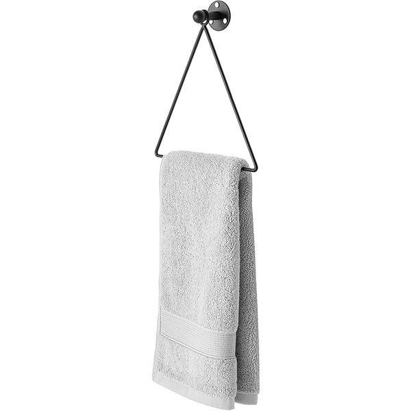 MyGift Modern Wall Mounted Triangle Metal Hand Towel Rack