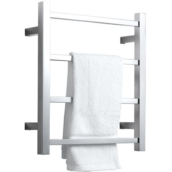 SHARNDY Heated Towel Rack, Polished Chrome