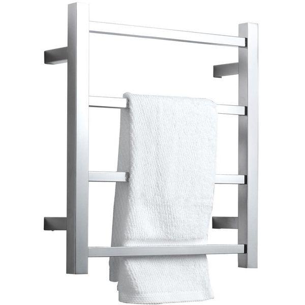 SHARNDY Heated Towel Rack, Polished Chrome