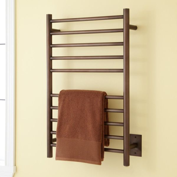 SH Naiture Stainless Steel Heated Towel Rack, Oil Rubbed Bronze Finish