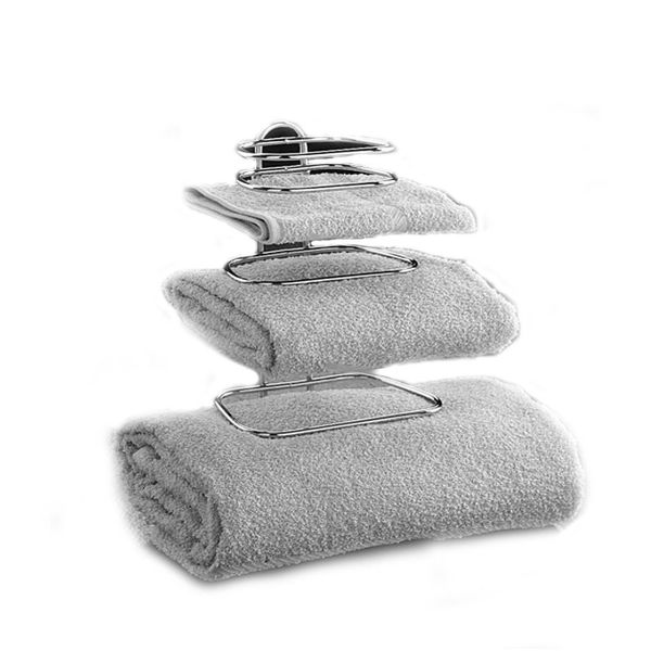 2-Guest Chrome Hotel Towel Holder by Taymor Industries