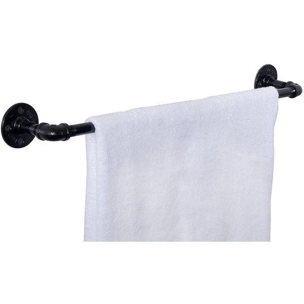 Wrought Iron Pipe Towel Bar by Pipe Décor