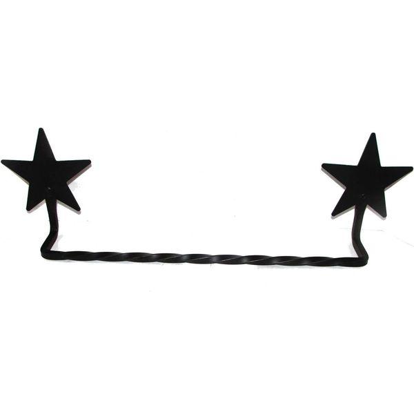 Amish-Made Wrought Iron Small Star Towel Bar
