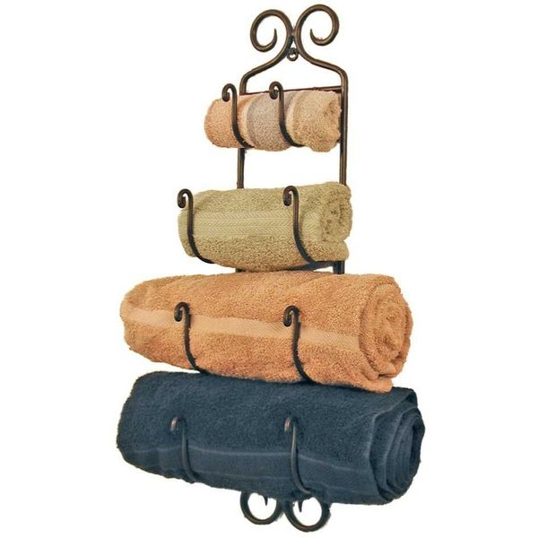Colonial Tin Works Wrought Iron Towel Rack