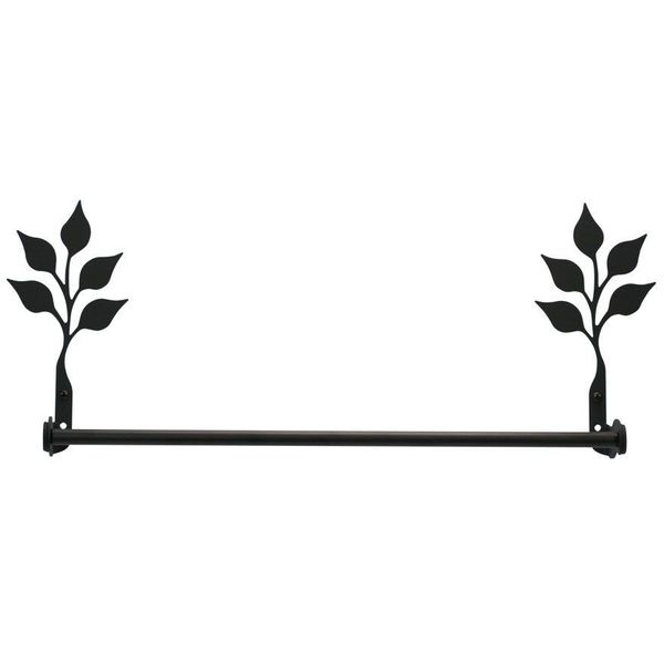 24-Inch Iron Leaf Towel Bar