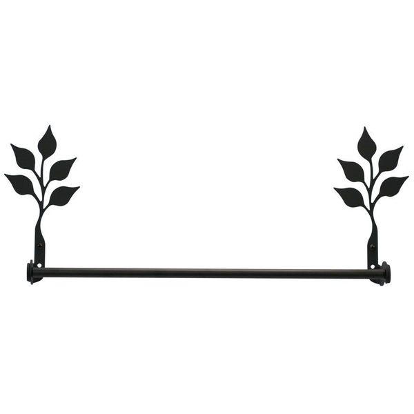 24-Inch Iron Leaf Towel Bar