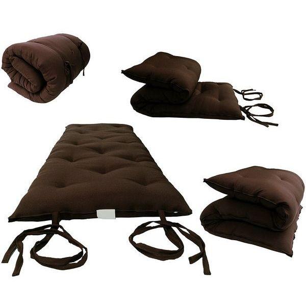 Brown Traditional Japanese Floor Futon Mattress