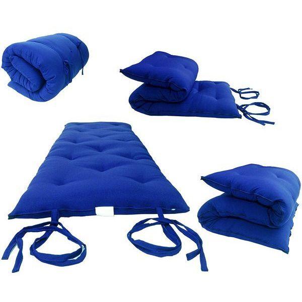 Royal Blue Traditional Japanese Floor Futon Mattress