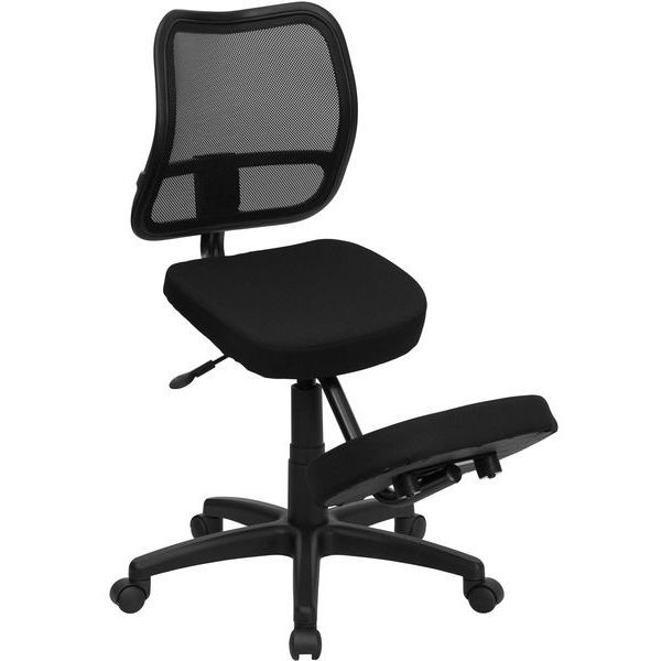 Flash Furniture Ergonomic Kneeling Task Chair with Curved Mesh Back