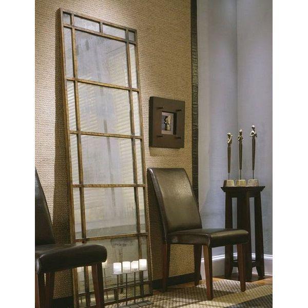 79-inch Antiqued Architectural Window Mirror