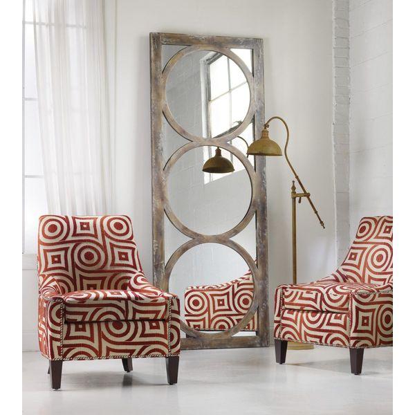 Tall Mirrored Circles Oversized Wall Mirror