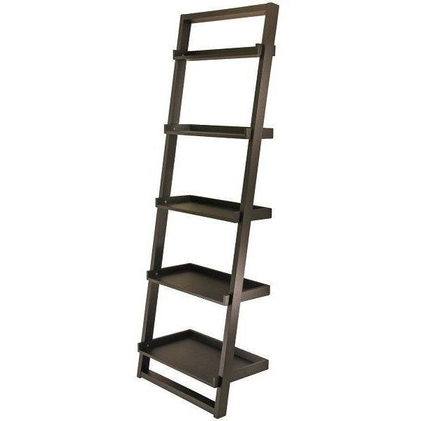 Winsome Wood Bailey Leaning 5-Tier Shelving Unit