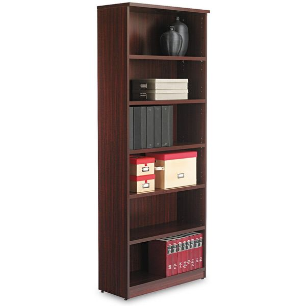 Alera Valencia Series Bookcase, Six-Shelf, Mahogany