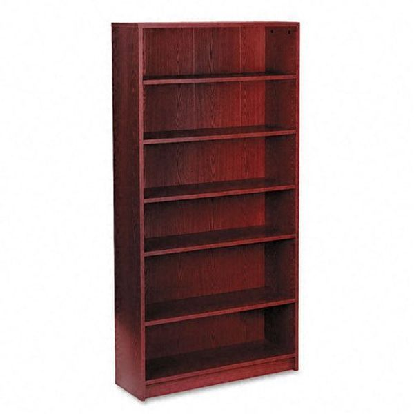 HON 1870 Series 6-Shelf Mahogany Bookcase