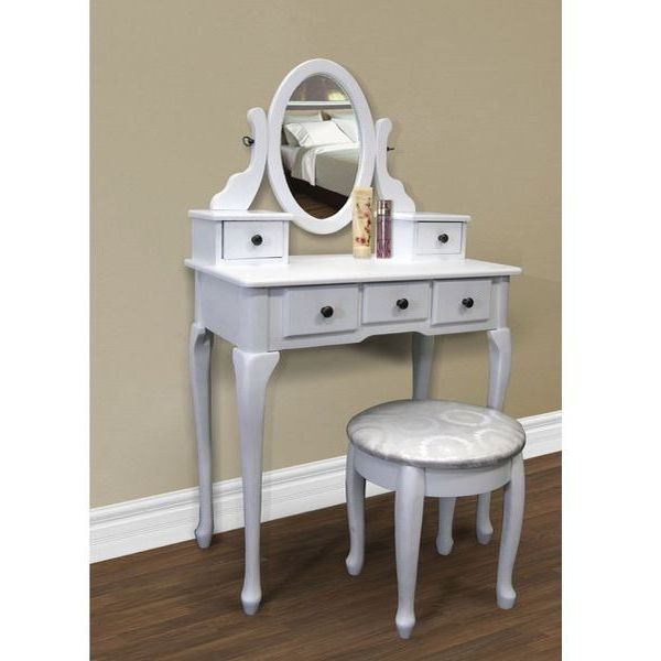 White Makeup Desk Set