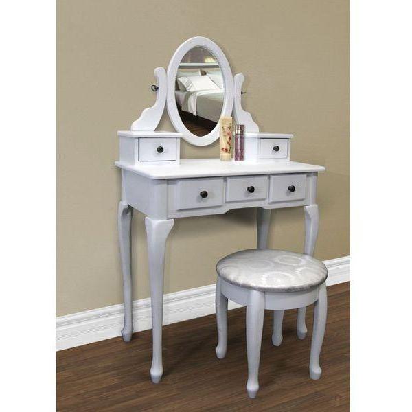White Makeup Desk Set