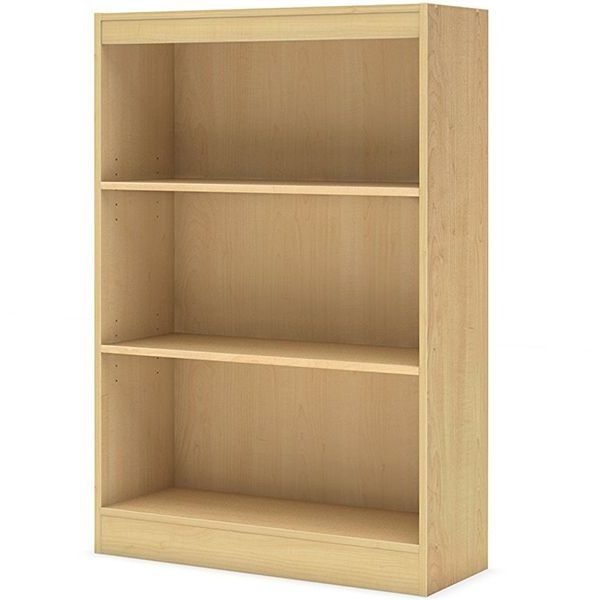 South Shore Axess Collection Bookcase, Natural Maple, 3-Shelfe