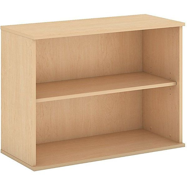 Bush Business Furniture 2 Shelf Bookcase in Natural Maple