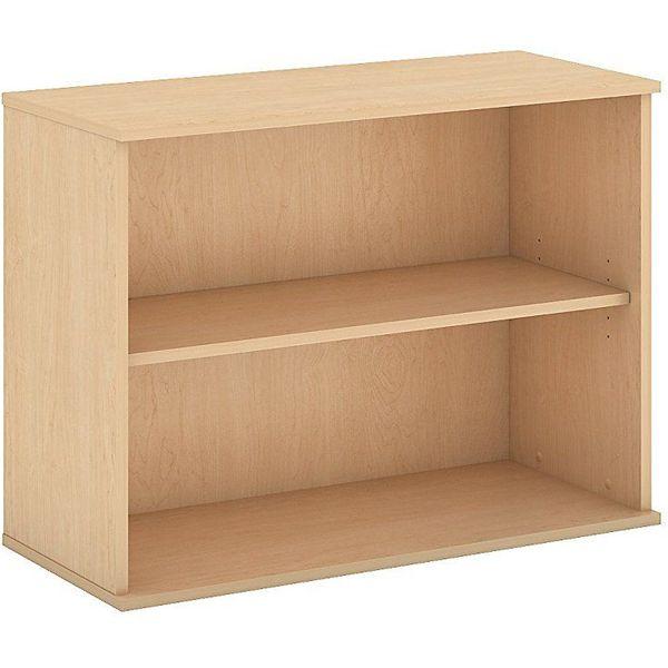 Bush Business Furniture 2 Shelf Bookcase in Natural Maple
