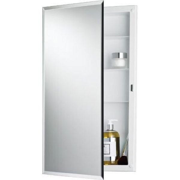 Jensen Builder Series Frameless Medicine Cabinet with Beveled Edge Mirror