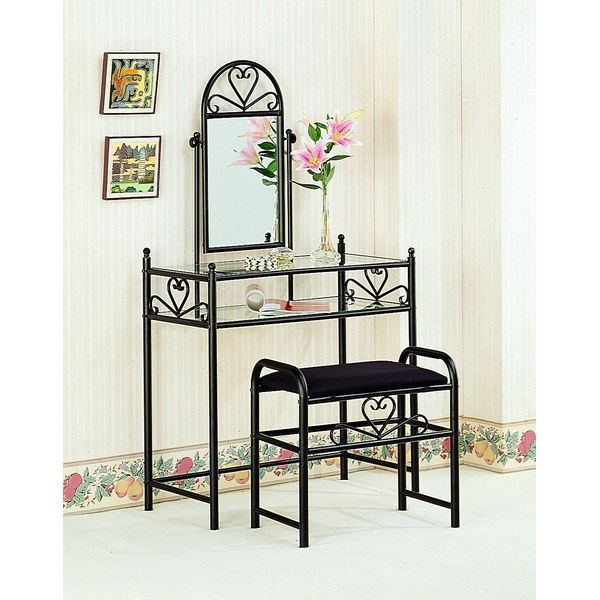Coaster Vanity Table Set in Black