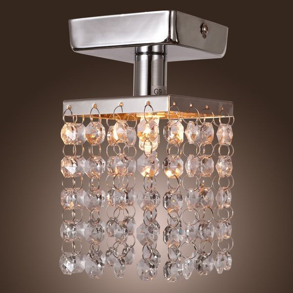 1 Light Crystal Pendant Mini Chandelier