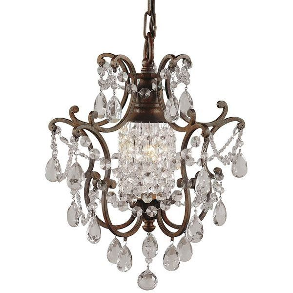 Murray Feiss Maison de Ville 1-Light Mini Duo-Mount Chandelier