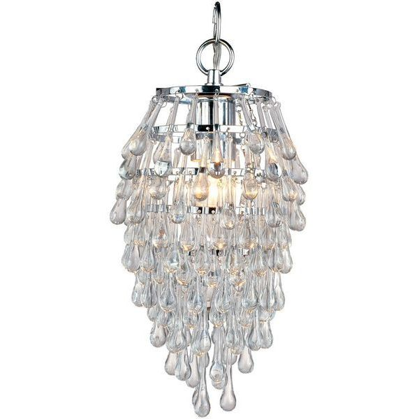 AF Lighting Crystal Teardrop One Light Mini Chandelier