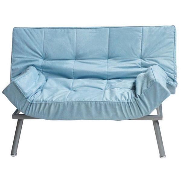DormCo Cozy Mini Futon, Silver Blue