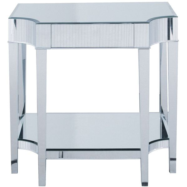 Sterling Art Deco Style Mirrored Nightstand