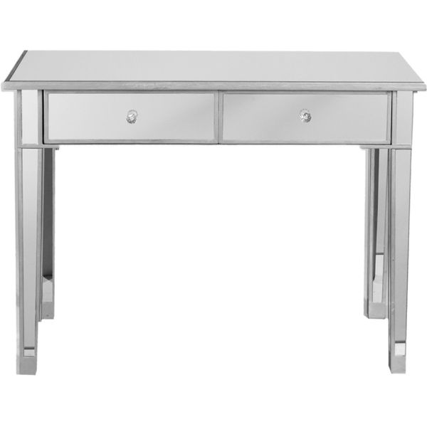 Best Choice Products 2 Drawer Mirrored Vanity Table
