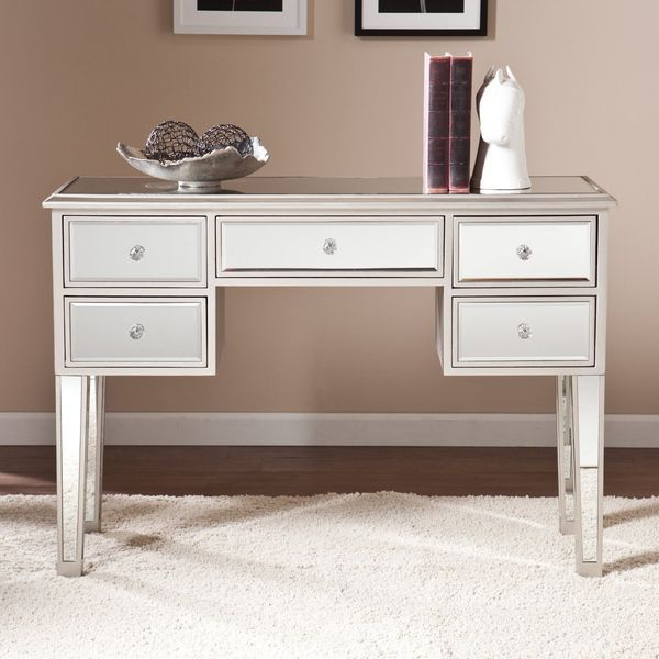 Southern Enterprises Macon Mirrored Console, Silver