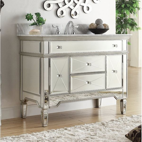 44-inch Mirrored Austin Bathroom Sink Vanity